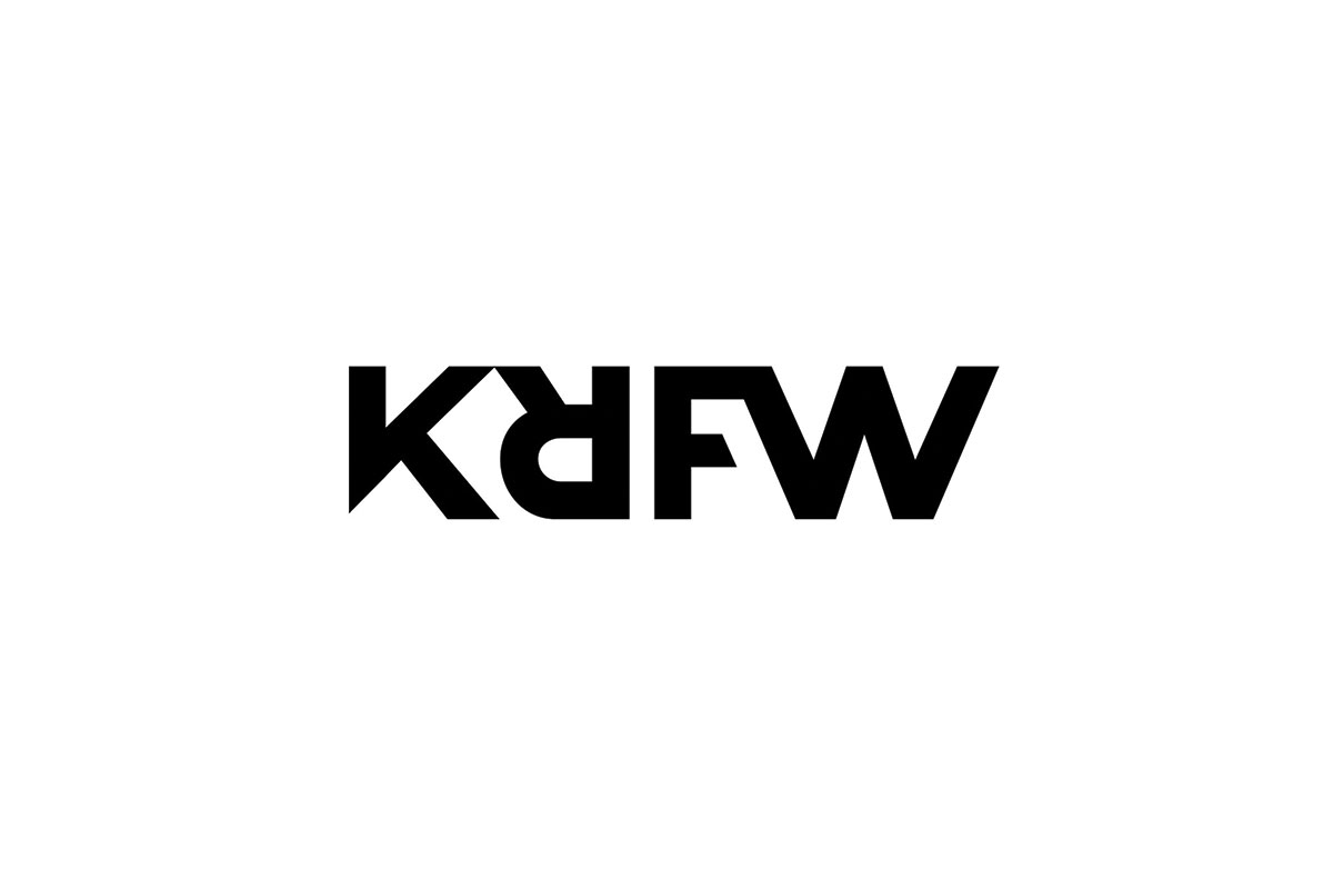 The KRFW logo on a white background